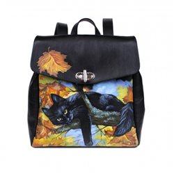 Рюкзак женский Черный кот Pelle Volare