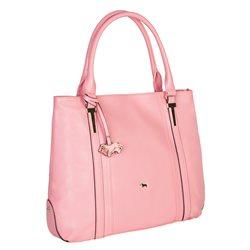 Сумка из натуральной кожи LABBRA, цвет: Розовый