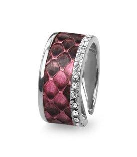 Кольцо Эдит - Розовый питон