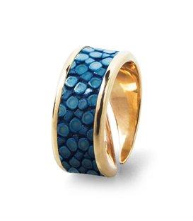 Кольцо Амели-Синий скат