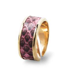 Кольцо Амели-Розовый питон