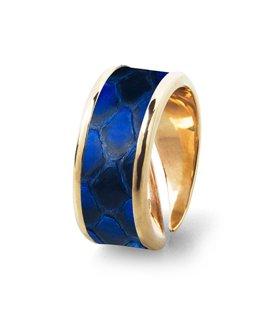 Кольцо Амели-Синий питон