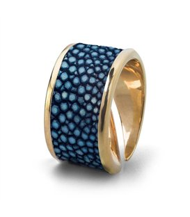 Кольцо Бланш-Синий скат