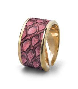 Кольцо Бланш-Розовый питон