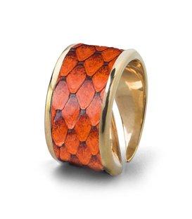 Кольцо Бланш-Оранжевый питон