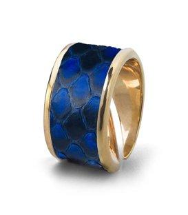 Кольцо Бланш-Синий питон