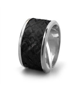 Кольцо Бланш-Черный питон