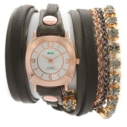 Часы La Mer Collections Crystal Astoria Chandelier Grey Black Layer