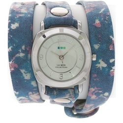Часы La Mer Collections Odyssey Paint Splatter Print Silver