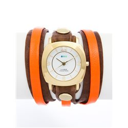 Часы La Mer Collections Layer Odyssey Mocha Neon Orange