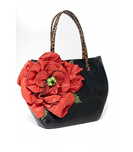 Женская сумка «Большой красный мак»