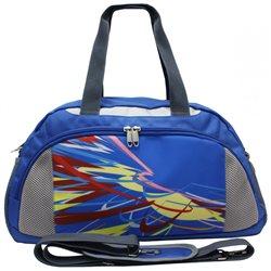 Сумка спортивная Alliance, цвет: голубой-светло-серый