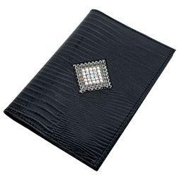 Обложка для паспорта Alliance, цвет: серо-черный