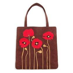 Дизайнерская сумка от MAPO, тема: Четыре мака