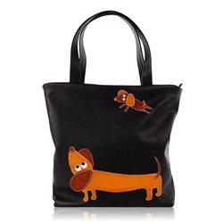 Дизайнерская сумка от MAPO, тема: Рыжая такса