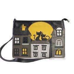 Дизайнерская сумка от MAPO, тема: Два кота