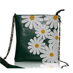 Дизайнерская сумка от MAPO, тема: Ромашки (зеленая)