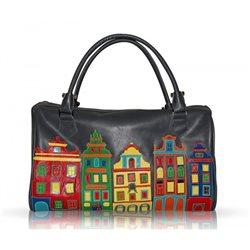 Дизайнерская сумка от MAPO, тема: Цветной город (серый)