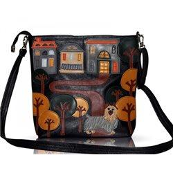 Дизайнерская сумка от MAPO, тема: Терьер на прогулке