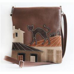 Дизайнерская сумка от MAPO, тема: Кот на крыше