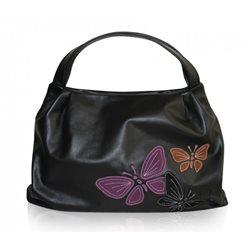 Дизайнерская сумка от MAPO, тема: Три бабочки (черная)
