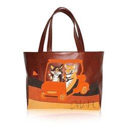 Дизайнерская сумка от MAPO, тема: Корги