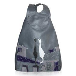 Дизайнерская сумка от MAPO, тема: Рюкзак Коты на крыше (серый)