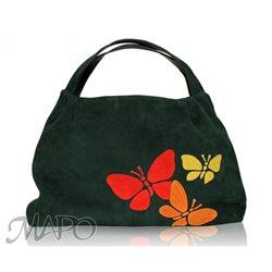 Дизайнерская сумка от MAPO, тема: Три бабочки (зеленая)