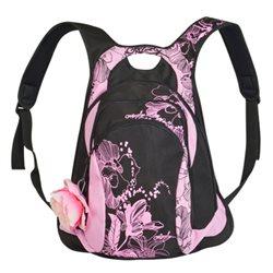 рюкзак Grizzly, цвет: черный - розовый