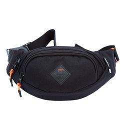 сумка поясная Grizzly, цвет: черный