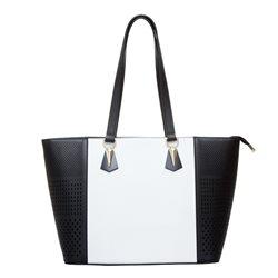 Сумка дамская OrsOro, цвет: черный с белым