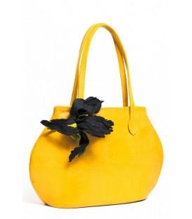 """Дизайнерская сумка """"Ирис черный"""""""